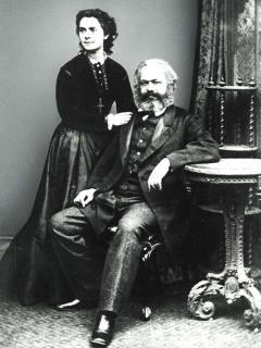 Marx mit Tochter Jenny